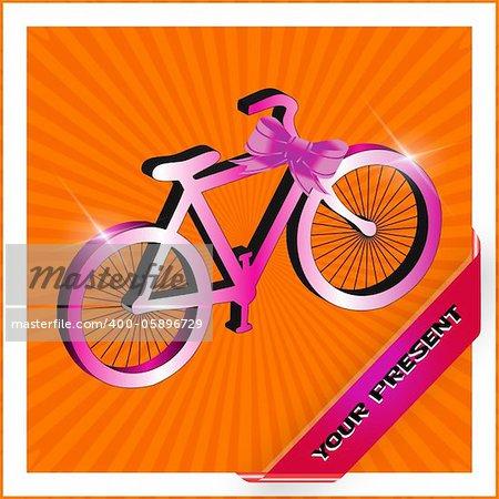 A nice 3D bike as a present
