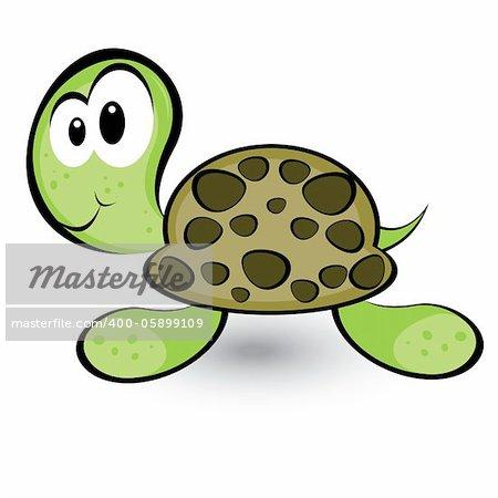 Cartoon gay turtle. Illustration on white background for design
