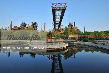 Landschaftspark Duisburg Nord, Meiderich Hütte, Duisbourg, bassin de la Ruhr, Rhénanie du Nord-Westphalie, Allemagne