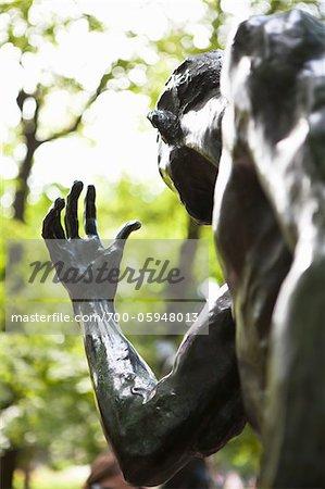 Gros plan de Statue, Musée Rodin, Paris, France
