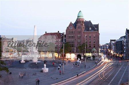 Place du Dam, Amsterdam, Pays-Bas