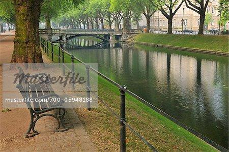 Bench, Konigsallee, Dusseldorf, North Rhine Westphalia, Germany