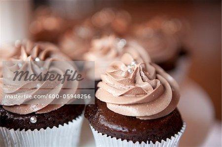 Chocolate Cupcakes at Wedding, Toronto, Ontario, Canada