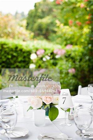 Table at Wedding Reception, Toronto, Ontario, Canada
