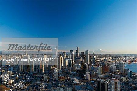 Vue aérienne de la ville de Seattle