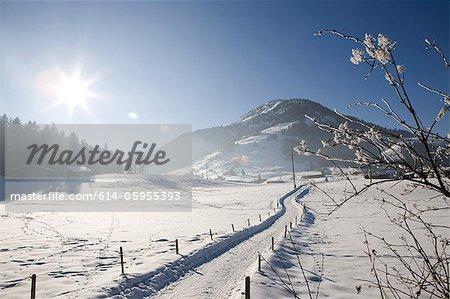 Snow covered landscape, Kirchberg, Tirol, Austria