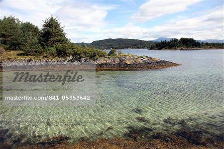L'eau claire du Hardangerfjord, Norvège, Scandinavie, Europe
