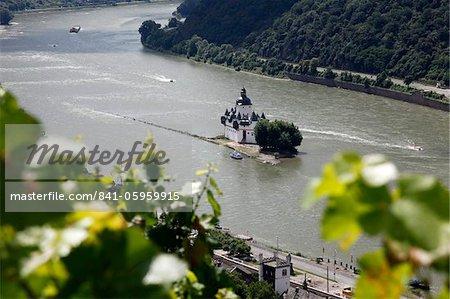 Pfalzgrafenstein Castle, Kaub, Rhine Valley, Rhineland-Palatinate, Germany, Europe