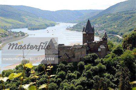 Stahleck Castle, Bacharach, Rhine Valley, Rhineland-Palatinate, Germany, Europe