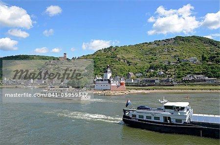 Gutenfels Castle, Pfalzgrafenstein Castle, Kaub, Rhine Valley, Rhineland-Palatinate, Germany, Europe