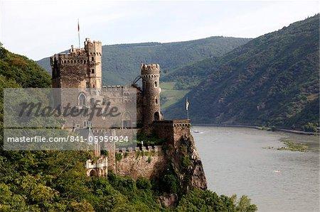 Rheinstein Castle near Trechtingshausen, Rhine Valley, Rhineland-Palatinate, Germany, Europe