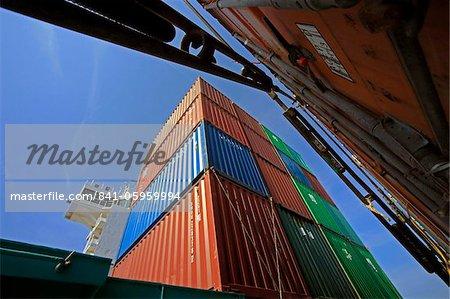 Porte-conteneurs, mer Baltique, la Suède, Scandinavie, Europe