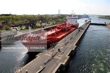 Serrures à Kiel-Holtenau, Canal de Kiel, Schleswig-Holstein, Allemagne, Europe