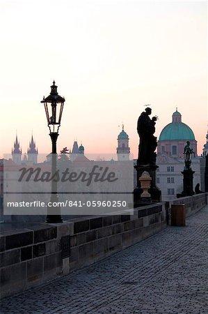 Pont Charles, patrimoine mondial UNESCO, Old Town, Prague, République tchèque, Europe