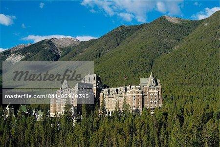 Hôtel Banff Springs, près de Banff, Parc National Banff, l'UNESCO World Heritage Site, Alberta, Canada, Amérique du Nord