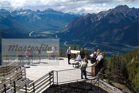Sulphur Mountain near Banff, Banff National Park, UNESCO World Heritage Site, Alberta, Rocky Mountains, Canada, North America