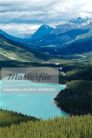 Peyto Lake, Banff National Park, UNESCO World Heritage Site, Alberta, Rocky Mountains, Canada, North America