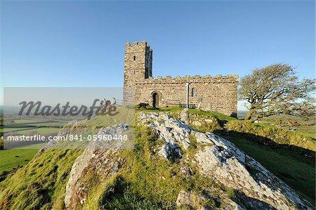 St. Michael de Rupe church, Brent Tor, Dartmoor, Devon, England, United Kingdom, Europe