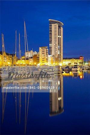 Marina de Swansea, Swansea, West Glamorgan, pays de Galles, au pays de Galles, Royaume-Uni, Europe