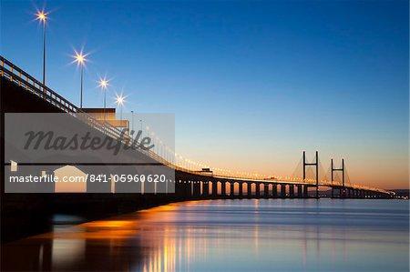 Deuxième pont de croisement de Severn, South East Wales, pays de Galles, Royaume-Uni, Europe
