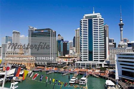 Bord de l'eau et le Central Business District, Auckland, North Island, New Zealand, Pacifique