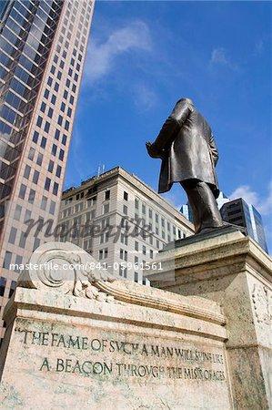 William McKinley Monument outside the Ohio Statehouse, Columbus, Ohio, United States of America, North America