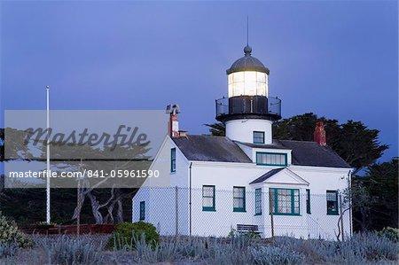 Point phare de Pinos, Pacific Grove, Monterey County, Californie, États-Unis d'Amérique, Amérique du Nord