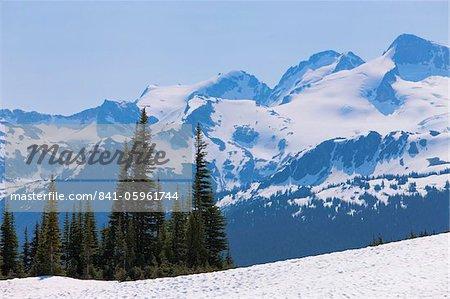 Couverte de neige des montagnes près de Whistler, en Colombie-Britannique, Canada, Amérique du Nord