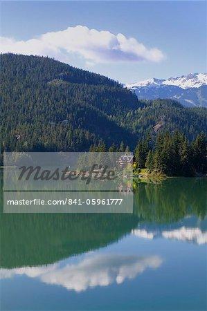 Maison sur la côte de Green Lake, Whistler, Colombie-Britannique, Canada, Amérique du Nord