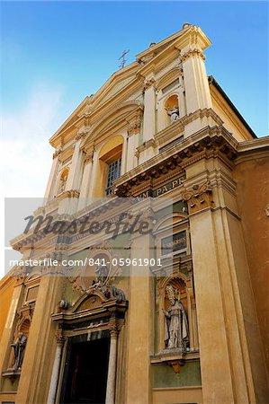 Réparate cathédrale, Place Rosseti, vieille ville, Nice, Alpes Maritimes, Provence, Côte d'Azur, French Riviera, France, Europe