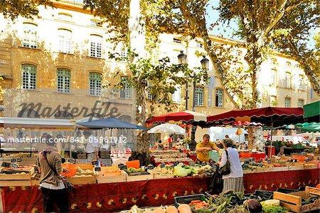 Fruits et légumes marché, Aix-en-Provence, Bouches-du-Rhône, Provence, France, Europe