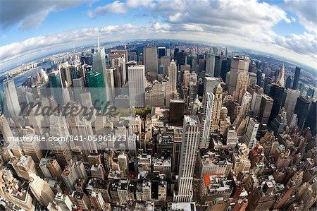 Vue de Manhattan l'Empire état Building, New York City, New York, États-Unis d'Amérique, Amérique du Nord