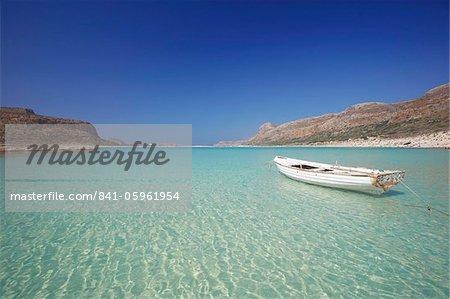 La baie de Balos et Gramvousa, Chania, Crète, îles grecques, Grèce, Europe