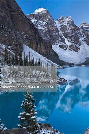 Looking across the beautiful Moraine Lake, Canada, North Americ