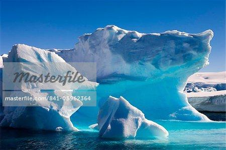 Détail d'un iceberg près île entreprise péninsule Antarctique, l'Antarctique, les régions polaires