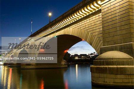 London Bridge in the late evening, Havasu, Arizona, United States of America, North America