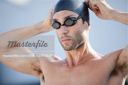 Portrait de nageur, International Swimming Hall of Fame, Fort Lauderdale, Floride, USA