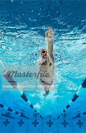 Nageur, International Swimming Hall of Fame, Fort Lauderdale, Floride, USA