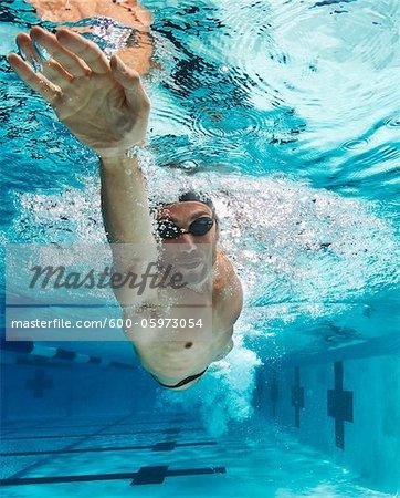 Schwimmer, International Swimming Hall of Fame aufgenommen, Fort Lauderdale, Florida, USA
