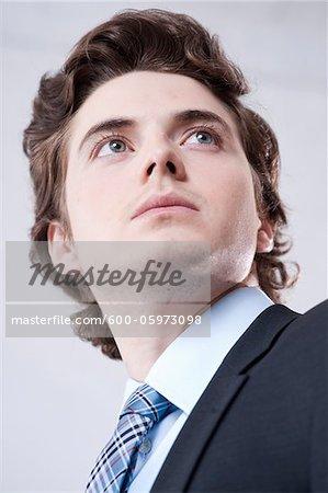 Close-up Portrait der junge Geschäftsmann