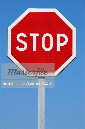 Stop Sign, Montpellier, Hérault, Languedoc-Roussillon, France