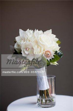 Bouquet de mariée sur Table, Toronto, Ontario, Canada