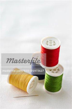 Spulen des Thread und nähnadel