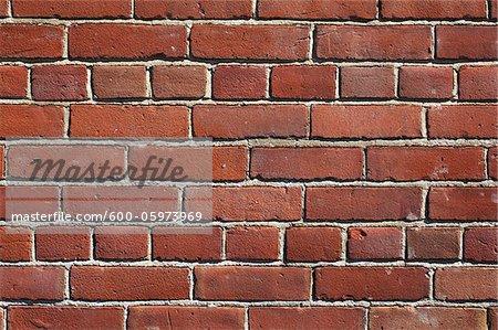 Gros plan du mur de briques