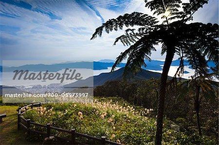 Vue depuis l'Observatoire Kochiyama, Amami Oshima, îles Amami, préfecture de Kagoshima, Japon