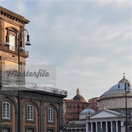 Royal Palace and Piazza del Plebiscito, Naples, Campania, Italy