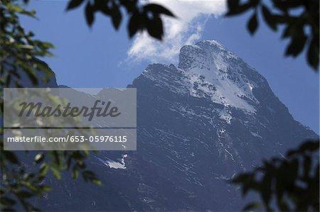 Sun shining on Eiger Mountain, Switzerland