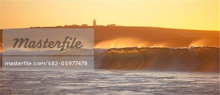 Le phare de Cape Columbine dans petite côte ouest pêche village de Paternoster, Western Cape, Afrique du Sud