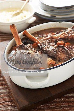 Traditionelle Karoo kochen. Karoo-Lammkeule mit cremigen samp