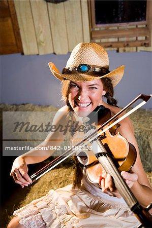 Violon jouant de Country girl